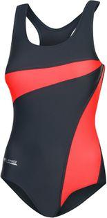 Kostium pływacki MOLLY Rozmiar - Stroje damskie - 40(L), Kolor - Stroje damskie - Molly - 36 - szary / koralowy