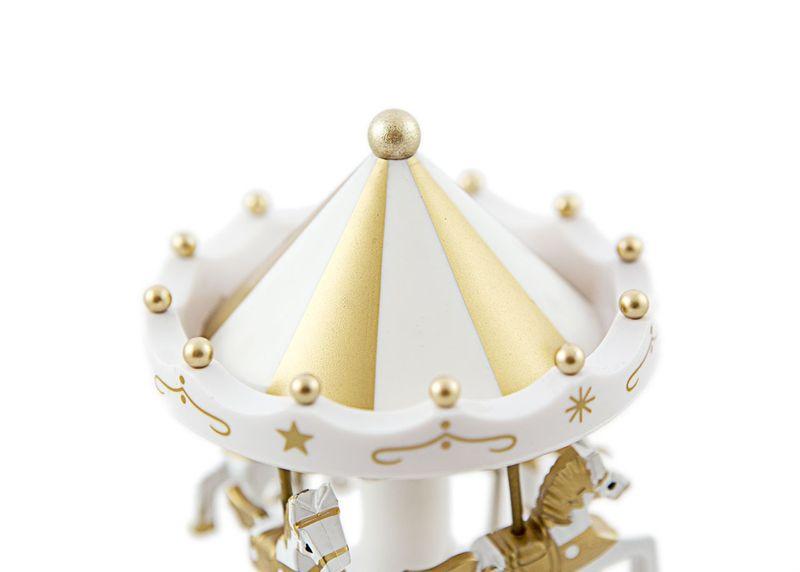 Pozytywka karuzela koniki stylowa zabawka Kolor - Złoty zdjęcie 4