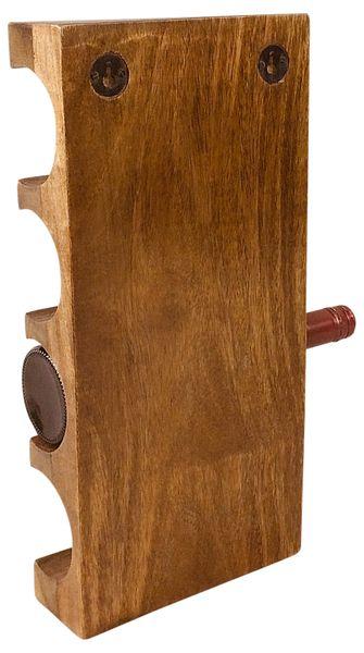 Naścienny Drewniany Stojak Na Wino zdjęcie 3