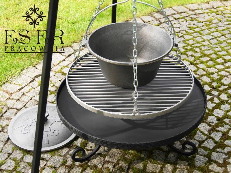 ZESTAW grill palenisko kociołek żeliwny 7l - ES-ER zdjęcie 6