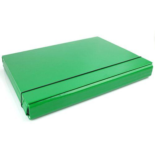 Teczka z gumką A4 4cm skrzydłowa na gumkę zielona na Arena.pl