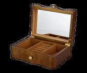 Kuferek na biżuterię drewniany organizer 2 kolory szkatułka