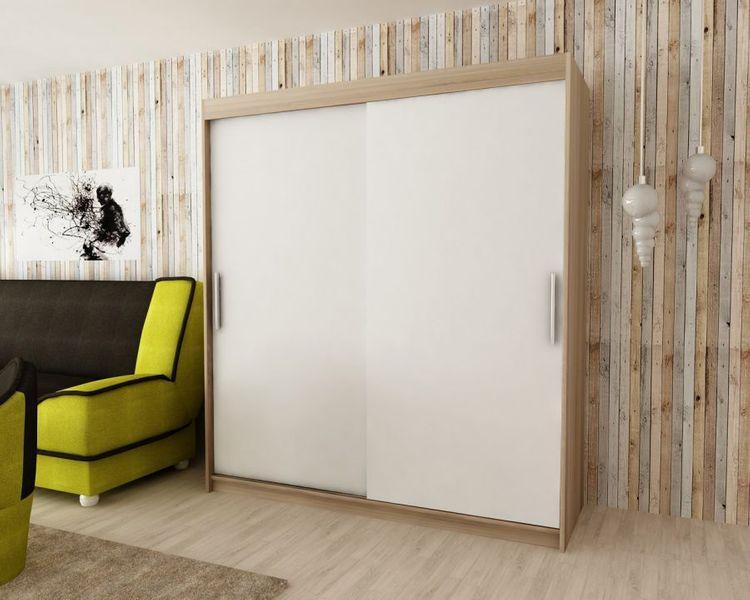 Szafa garderoba przesuwna biała DARO 200 RIBES zdjęcie 7