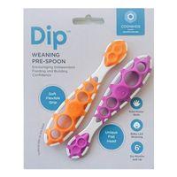 CogniKids Dip® 2 Sensoryczne łyżeczki do nauki samodzielnego jedzenia TANGERINE/FLAMINGO