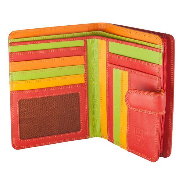 Skórzany portfel damski DuDu®, 534-1161 czerwony zdjęcie 1
