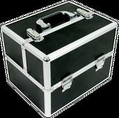 Kuferek kosmetyczny mały 6 półek czarny