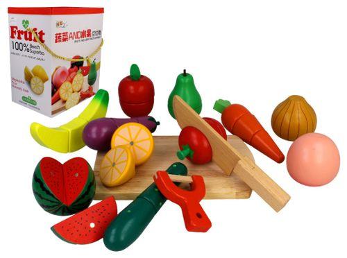 Zestaw KUCHNIA drewniane owoce i warzywa do krojenia magnetyczne Z211 na Arena.pl