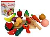 Zestaw KUCHNIA drewniane owoce i warzywa do krojenia magnetyczne Z211 zdjęcie 9