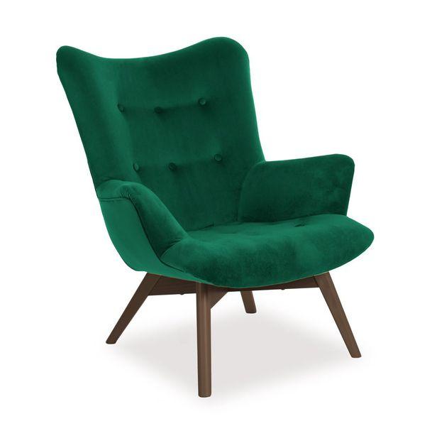 Fotel ANGEL zielony uszak tapicerowany HIT ! zdjęcie 1