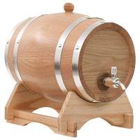 Beczka Na Wino Z Kranikiem, Lite Drewno Dębowe, 6 L
