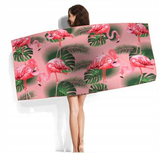 Ręcznik Plażowy Duży Szybkoschnący 90x170 cm Wzory