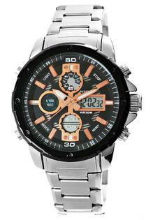 Zegarek Męski Perfect A8026B-1 Dual Time Iluminacja I Fluorescencja