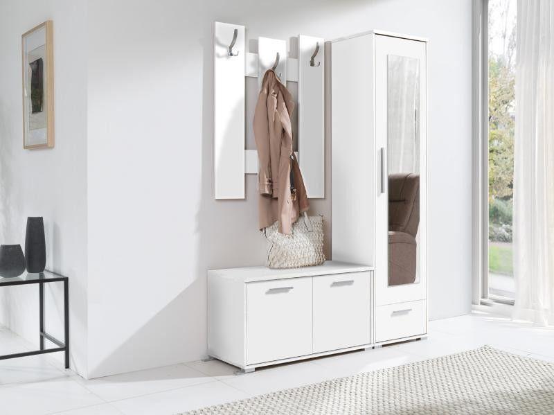 Biała Garderoba Przedpokój Hit Mx Dąb Sonoma Biały Mat