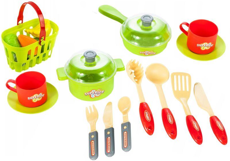 Kuchnia dla dzieci w walizce Piekarnik Zlew Akcesoria kuchenne U07 zdjęcie 3