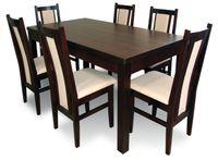 Stół i krzesła, jadalnia, kuchania, krzesło, wenge, salon, orzech