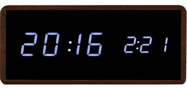 Xonix GHY-010JM Elektroniczny budzik na baterię, drewniana obudowa, termometr, 3 x alarmy
