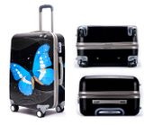 Walizka Podróżna Bagaż na Kółkach Mała 65x40 cm Blue Butterfly