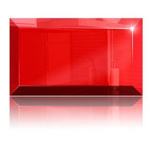 Płytka Lacobel czerwona 10x20 cm