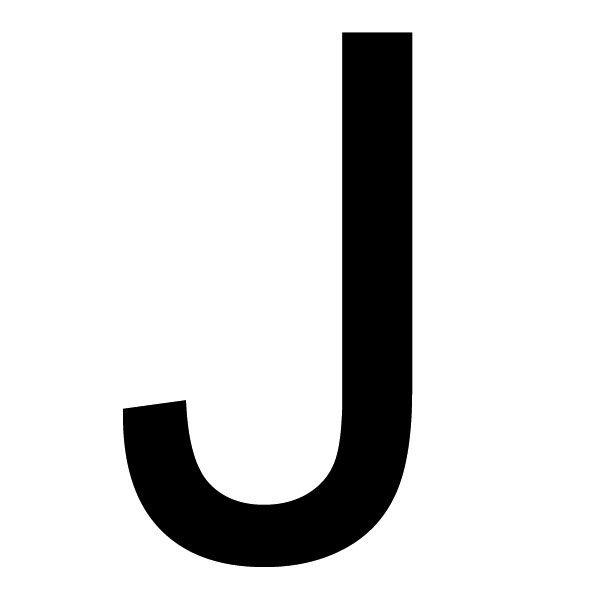 Szablon Malarski Litera J Czcionka Arial Rozmiar 90cm Szablon