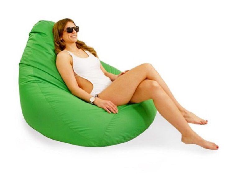 Zielony nowoczesny Fotel ogrodowy pufa leżanka sako do ogrodu zdjęcie 2