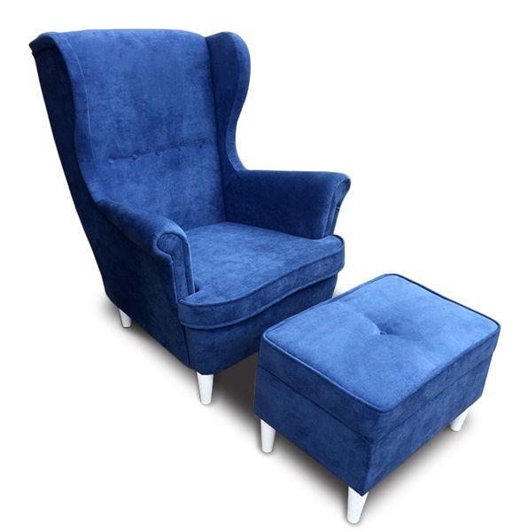 Fotel Uszak Chris Z Podnóżkiem Otwieranym