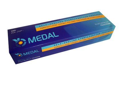 Torebki do sterylizacji 70x230 Medal 200 sztuk