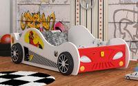Łóżko AUTO samochód X-Speed LED 160x80 + materac