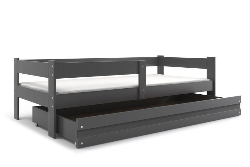 łóżko Pojedyncze Dla Dzieci Hugo Parterowe 160x80 Drewniane