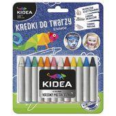 Kredki do malowania twarzy 12 kolorów KIDEA DERFO zdjęcie 4