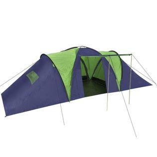Namiot turystyczny 9-osobowy niebiesko-zielony VidaXL