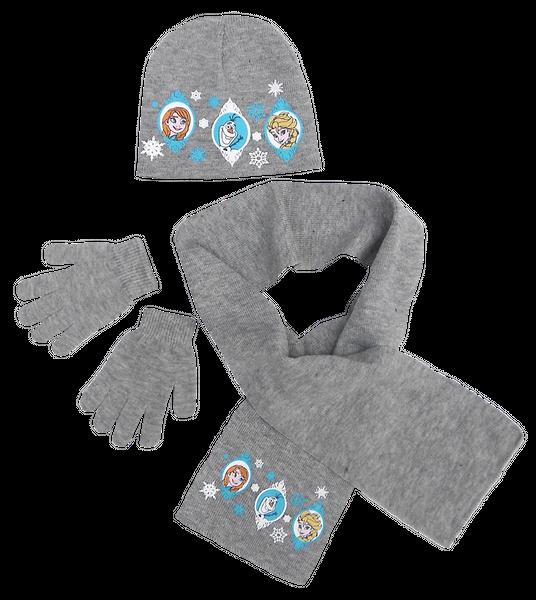 Komplet czapka jesienna / zimowa, szalik i rękawiczki Frozen - Kraina Lodu : Rozmiar: - 54 cm zdjęcie 1