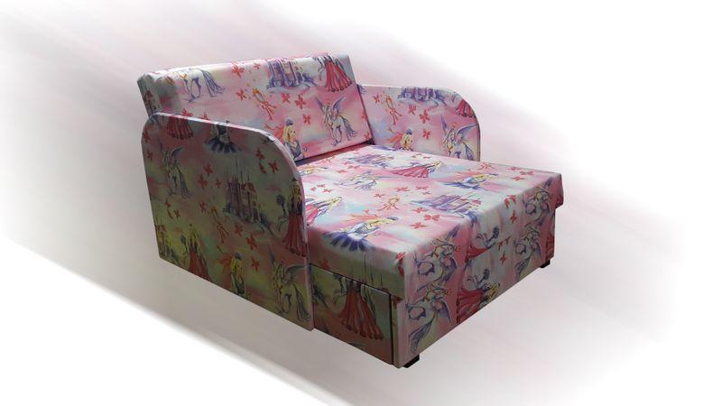 Łóżko, fotel , tapczanik dziecięcy z pojemnikiem na pościel zdjęcie 1