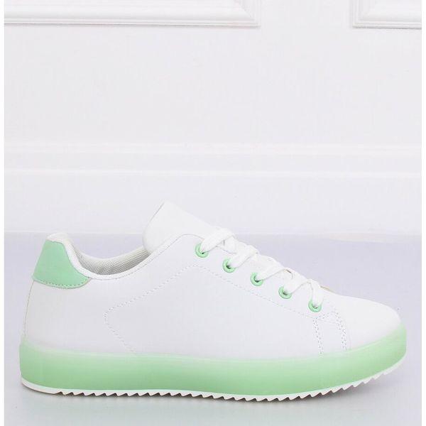 Trampki damskie biało zielone 9118 Green r.37