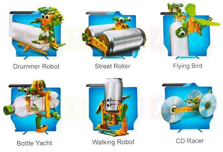 Zabawka Edukacyjna: Robot Solarny 6W1 zdjęcie 2
