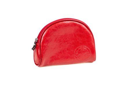 Mała skórzana kosmetyczka Cartello K03 Kolor - Czerwony