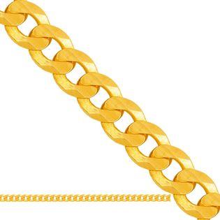60cm łańcuszek złoty męski pancerka