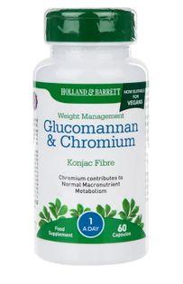 Glucomannan i Chrom - 60 kaps Holland & Barrett