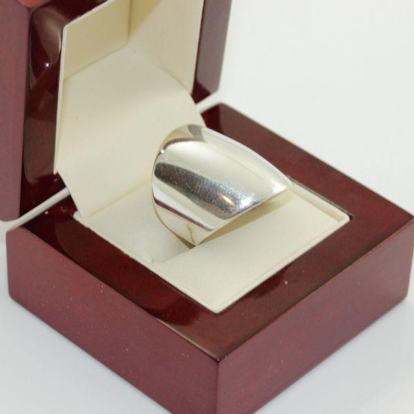 Modny pierścionek srebrny szeroki 27 zdjęcie 3