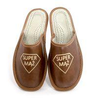 Kapcie męskie SUPER MĄŻ pantofle prezent dla Niego
