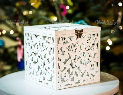 Skrzynka w motylki - pudełko na koperty, telegramy.