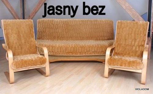 komplet narzut na kanapę i fotele polskie narzuty na sofę i fotelówki na Arena.pl