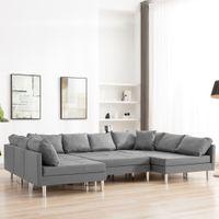 Sofa modułowa tkanina jasnoszara VidaXL