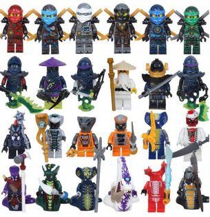 MEGA figurki klocki 24szt + karta lego ninjago zPL