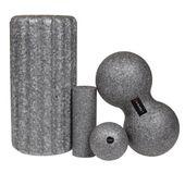 Wałek roller x 2 i piłka x 2 zestaw uniwersalny masaż kolor szary ABI