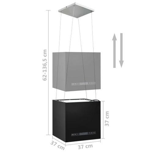 Lumarko Wiszący okap nad wyspę, dotykowy LCD, 37 cm, stal na Arena.pl