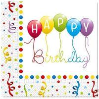 serwetki URODZINOWE balony HAPPY BIRTHDAY 20 szt