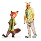 KIGURUMI ONESIE PRZEBRANIE DRES KIGU FOX NICK  M, L, XL