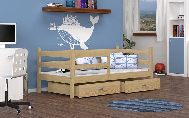 Łóżko wysuwane JACEK P  80x180  szuflady + materac zdjęcie 2