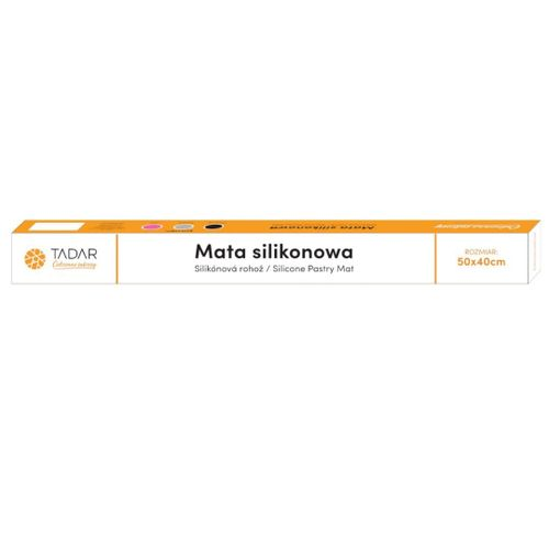 Stolnica Silikonowa 50X40Cm Mata Kuchenna Szara Tadar Silico Td-6361 na Arena.pl