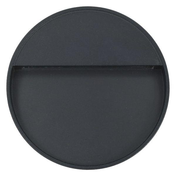 Lampy ścienne zewnętrzne LED, 2 szt., 3 W, czarne, okrągłe zdjęcie 5